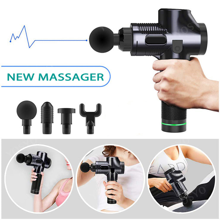 Best seller LCD Display Massage Gun Deep Muscle Massager Muscle Pain Body Massage Exercising  Relaxation Slimming Shaping Pain Relief