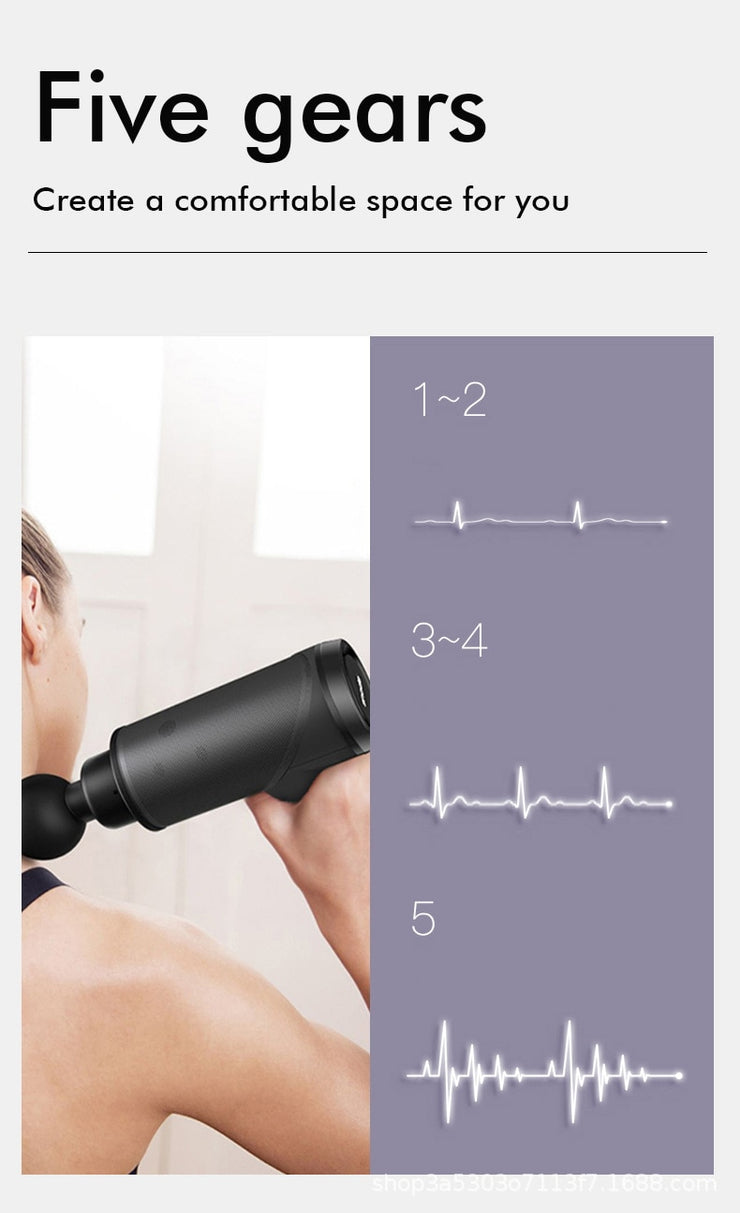 Muscle Pain Management Massage Gun  after Training Exercising Body Relaxation Slimming Shaping Pain Relief