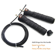 Home Fitness Jump Rope Professional Training Adjustable Cable High Speed Skipping Ropes Rapid Ball Bearings