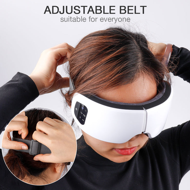 Wireless Eye Massager Air Compression Eye Massage with Music Smart Eye Massage Heated Goggles Anti Wrinkles Eye Care