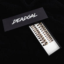 Load image into Gallery viewer, 75% OFF - Medium Claw Rose White Flowers on Black Press On Nail Set - DeadGal