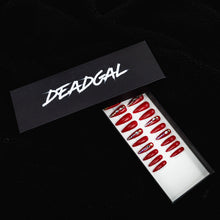 Load image into Gallery viewer, HANDMADE Long Claw Red Jewel Press On Nail Set - DeadGal