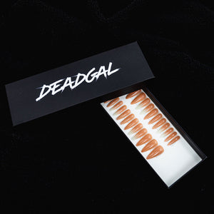 75% OFF - Medium Claw White Ombré Nude Press On Nail Set - DeadGal