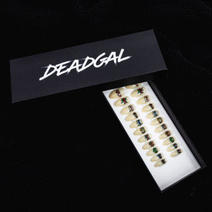 Medium Almond Comic Designer Press On Nail Set - DeadGal