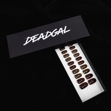Load image into Gallery viewer, Short Oval Snakeskin and Cappuccino Solid Press On Nail Set - DeadGal