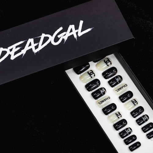 Short Square CC Designer Press On Nail Set - DeadGal