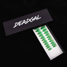 Load image into Gallery viewer, Medium Almond Green Jade Press On Nail Set - DeadGal