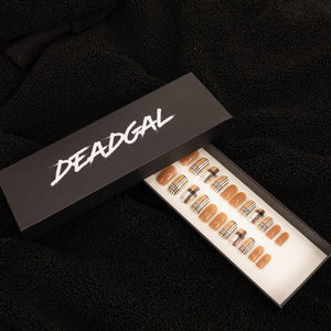Short Square Burb Designer Press On Nail Set - DeadGal