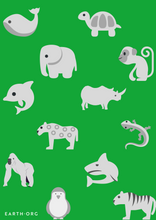 Load image into Gallery viewer, Endangered Species Poster by Jason Bradley