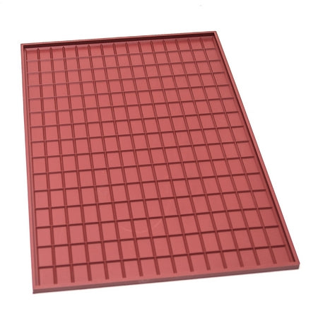TAPIS SILICONE TABLETTE DE CHOCOLAT AVEC REBORDS - 360x560x10 MM