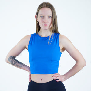 Serena Crop Top in Ocean Blue