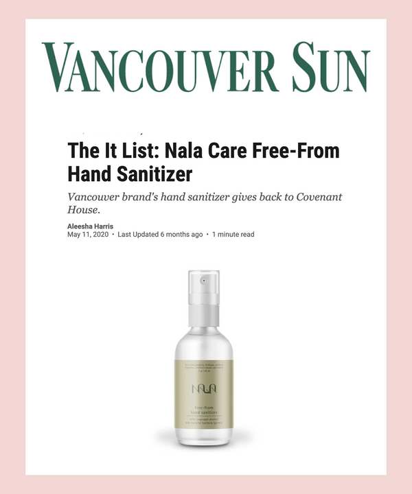 The It List: Nala Care Free-From Hand Sanitizer