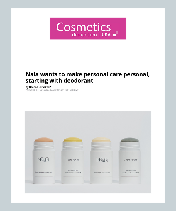 Nala wants to make personal care personal, starting with deodorant