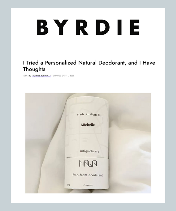 I Tried a Personalized Natural Deodorant, and I Have Thoughts