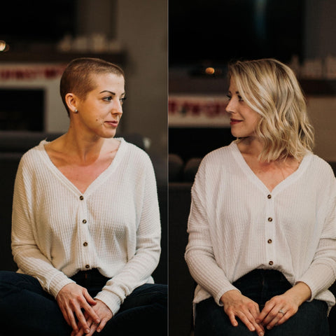 How Breast Cancer Made Me Stronger - Shaved before and after