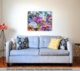 Metal Panel Print, Underwater World With Corals And Tropical Fish - Life Relevance