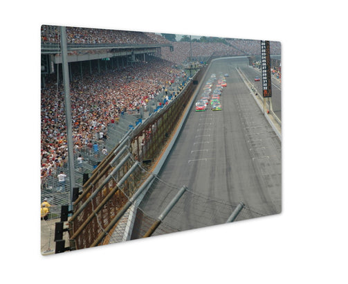 Metal Panel Print, Starting of pace lap at the Indianapolis Motor Speedway - Life Relevance