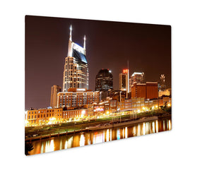 Metal Panel Print, Nashville At Night - Life Relevance