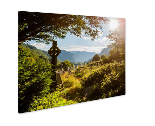 Metal Panel Print, Old Faithful Old Celtic Cross Glendalough Wicklow Mountain - Life Relevance
