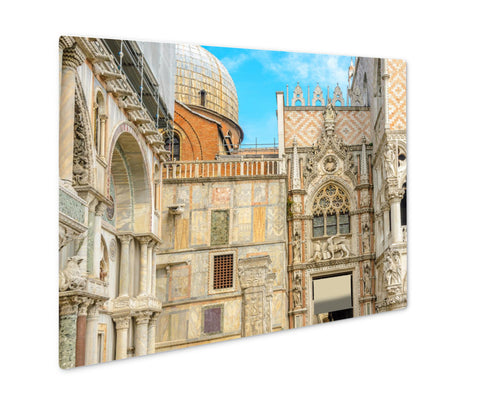 Metal Panel Print, Piazzsan Marco Cathedral San Marco Venice Italy Roof - Life Relevance