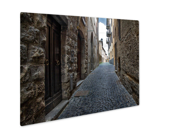 Metal Panel Print, Venice Little Street Of Rome With Stone Bridge And Ancient Houses - Life Relevance