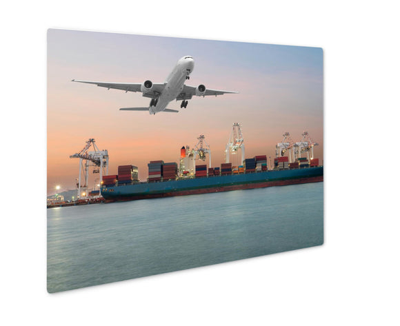 Metal Panel Print, Industrial Container Cargo Freight Ship - Life Relevance