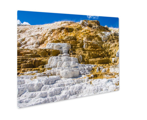 Metal Panel Print, Travertine Terrace Yellowstone - Life Relevance