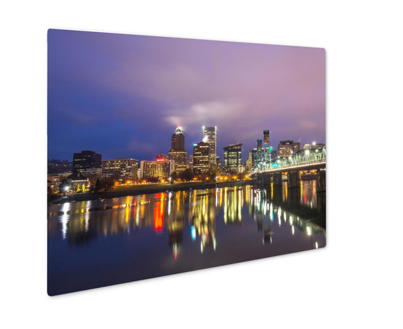 Metal Panel Print, Water With Reflection And Cityscape - Life Relevance