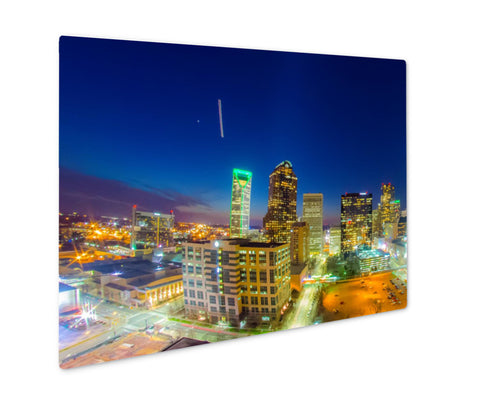 Metal Panel Print, View Of Charlotte Skyline Aerial At Sunset - Life Relevance