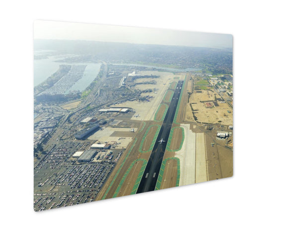 Metal Panel Print, Aerial View Of San Diego Airport - Life Relevance
