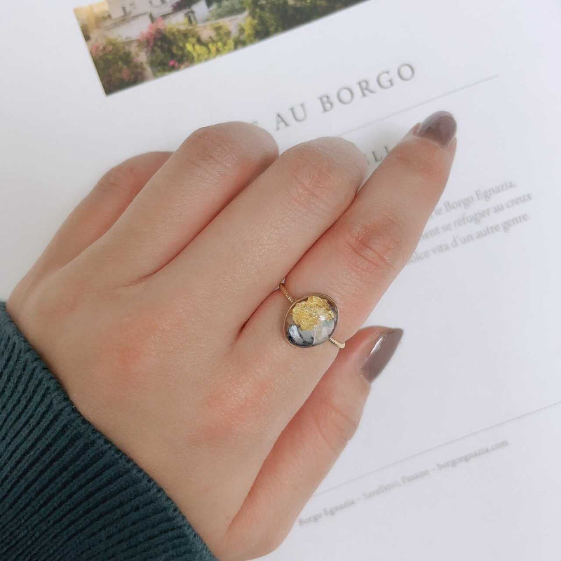 round gray ring / NAR049