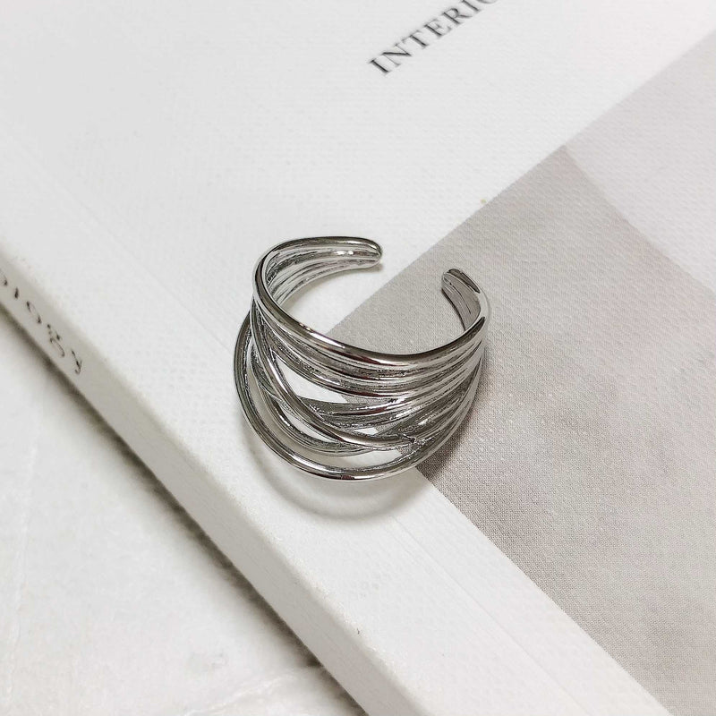 layer silver ring / PTR106