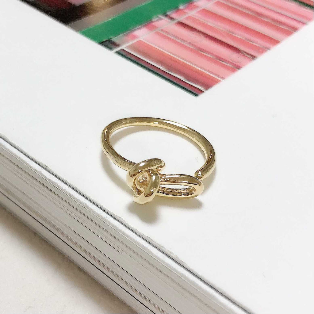 knot gold ring / HDM028