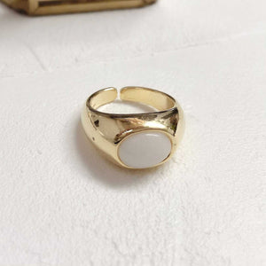 stone white ring / PTR209