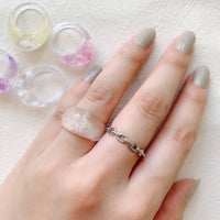 clear ring  / YUM001