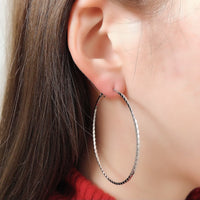 hoop silver pierce / HDM078