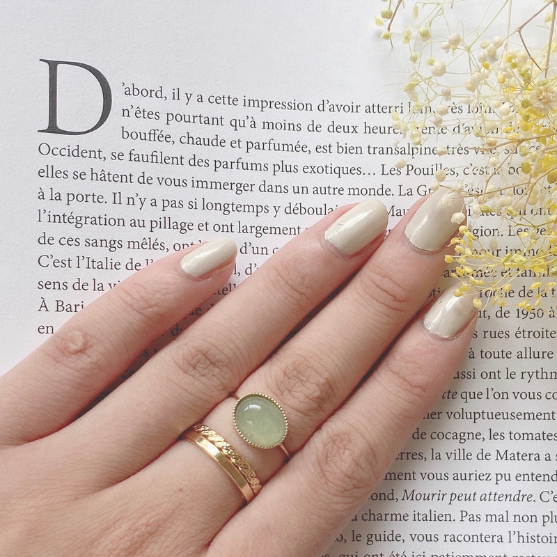 natural stone w ring / PDV001