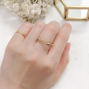 cross gold ring / HDM012