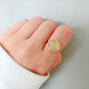 sheer natural stone ring / PDV011
