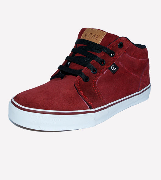 Tenis Core Smith High Burgundy White