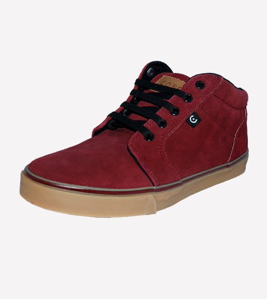 Tenis Core Smith High burgundy Gum
