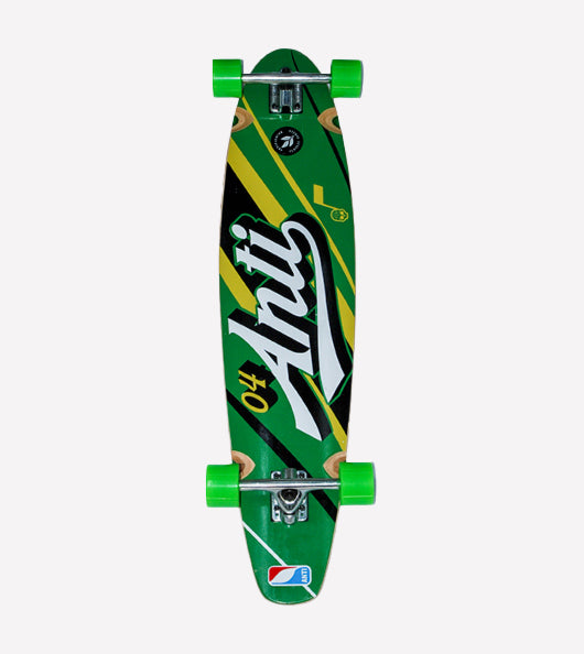 Longboard Antifashiob Verde Amarillo
