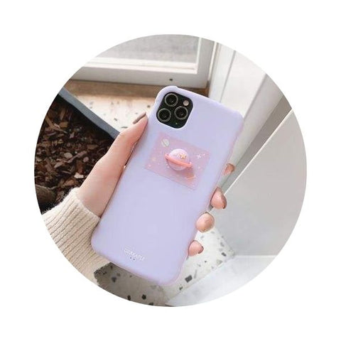 coque-iphone planete 3d mauve