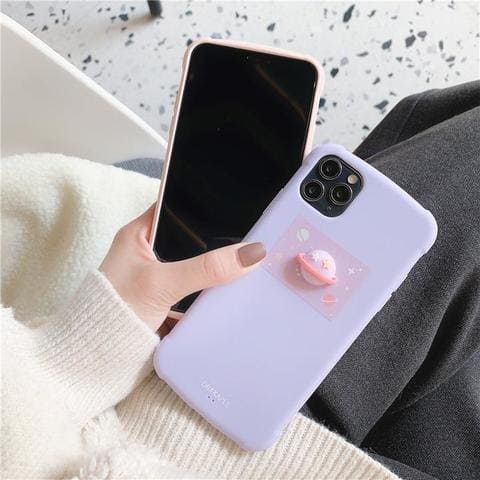 coque iphone planete 3d mauve