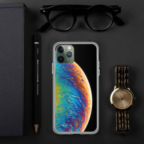 Coque iPhone 11 pro Planète Multicolore