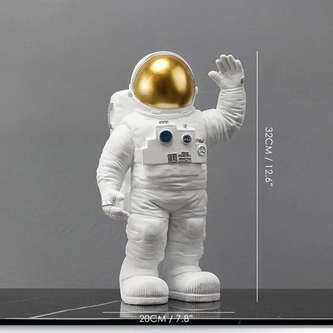 Grosse Figurine Astronaute or