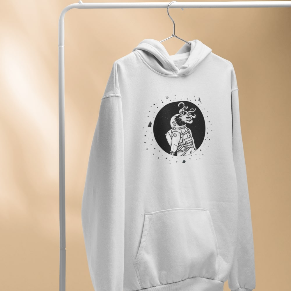 Sweat Astronaute alien blanc