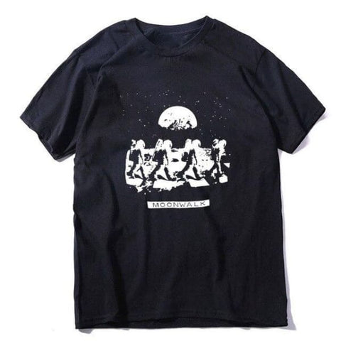 t shirt astronaute moonwalk