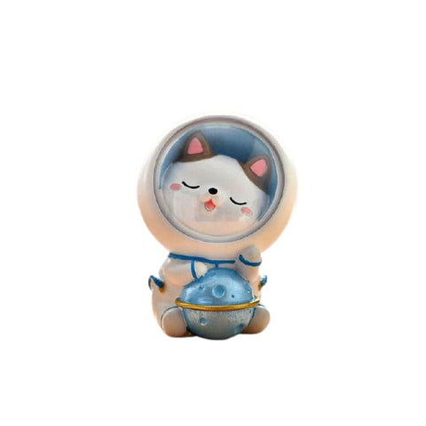 tirelire chat astronaute