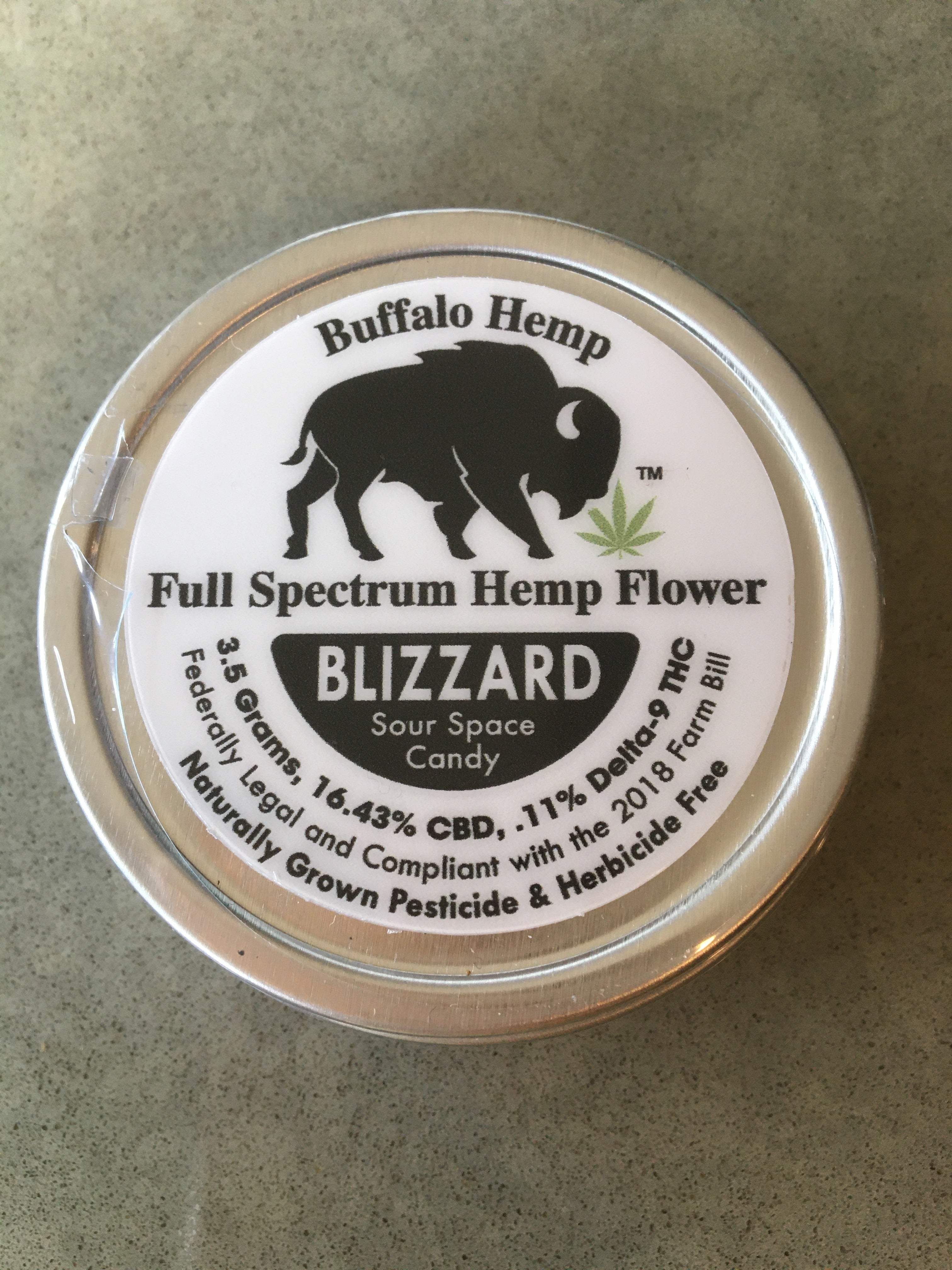 Blizzard Sour Space Candy Can Full Spectrum Hemp Flower (3.5g) 1/8oz
